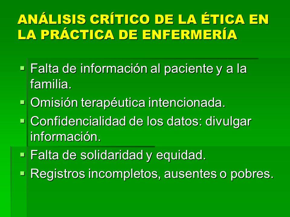 EN EL ÁREA ASISTENCIAL: EN EL ÁREA ASISTENCIAL: Prácticas inmorales, ilegales e ilícitas. Prácticas inmorales, ilegales e ilícitas. Ausencia de denunc