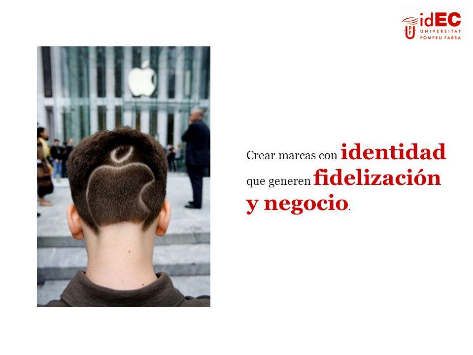 2 opciones para la marca : 1) competir por precio o por superioridad funcional (necesita de un departamento de I+D muy fuerte) 2) construir una identidad con significado en los entornos real y digital