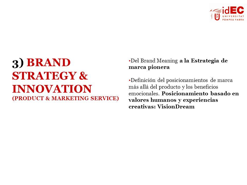 Del Brand Meaning a la Estrategia de marca pionera Definición del posicionamientos de marca más allá del producto y los beneficios emocionales. Posici