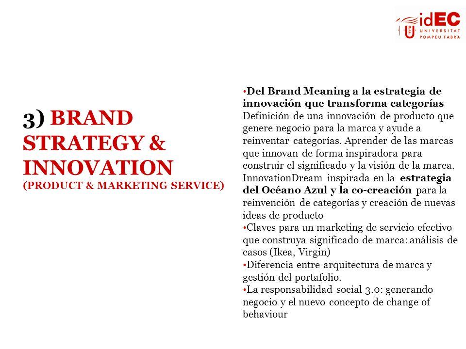 Del Brand Meaning a la estrategia de innovación que transforma categorías Definición de una innovación de producto que genere negocio para la marca y