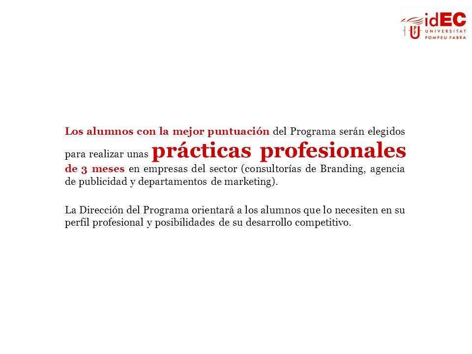 Los alumnos con la mejor puntuación del Programa serán elegidos para realizar unas prácticas profesionales de 3 meses en empresas del sector (consulto