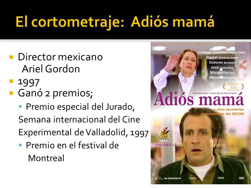 Director mexicano Ariel Gordon 1997 Ganó 2 premios; Premio especial del Jurado, Semana internacional del Cine Experimental de Valladolid, 1997 Premio