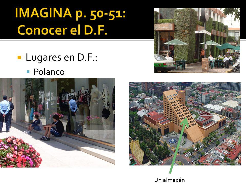 Lugares en D.F.: Polanco Un almacén
