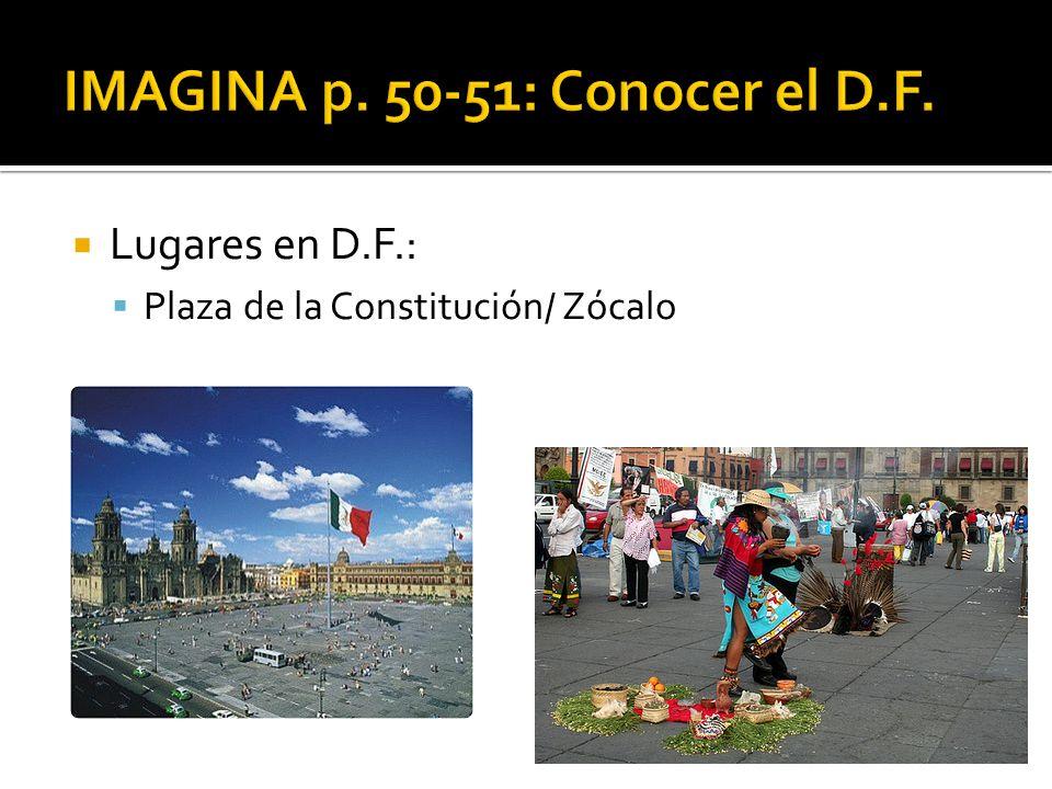 Lugares en D.F.: Plaza de la Constitución/ Zócalo