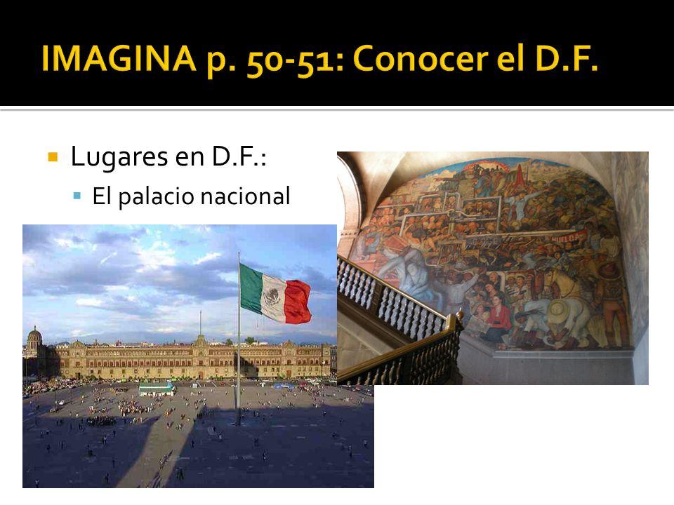 Lugares en D.F.: El palacio nacional
