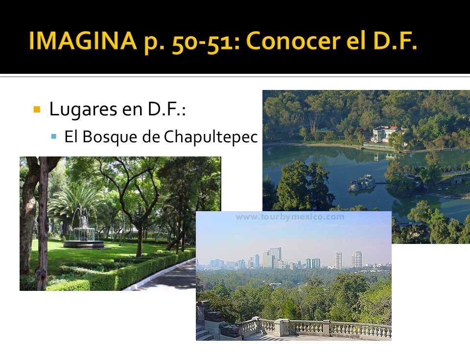Lugares en D.F.: El Bosque de Chapultepec