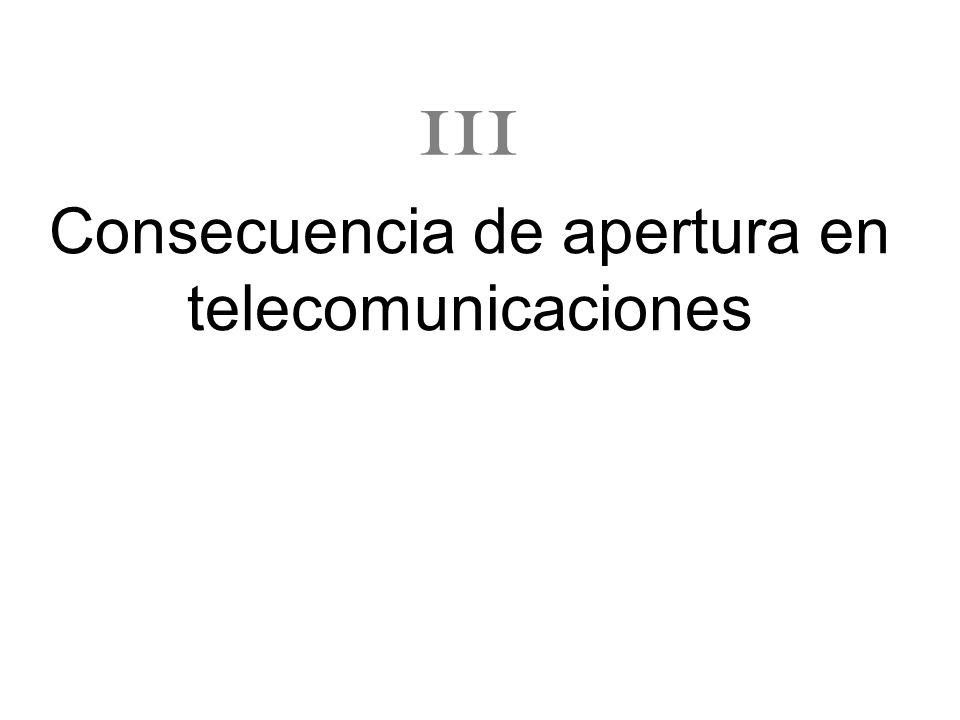 Consecuencia de apertura en telecomunicaciones III