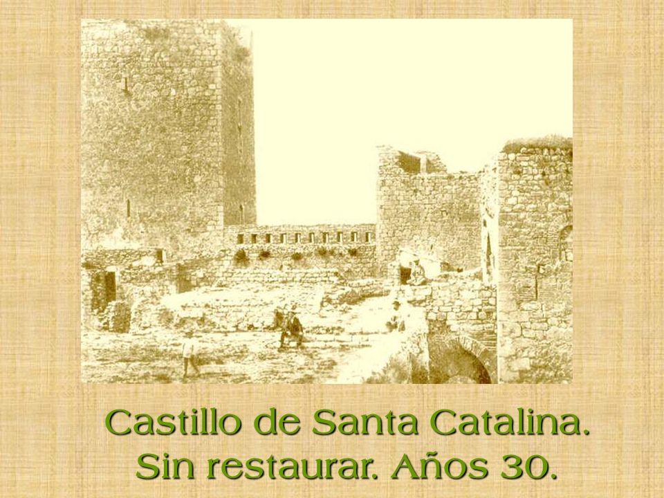 Castillo de Santa Catalina. Sin restaurar. Años 30.