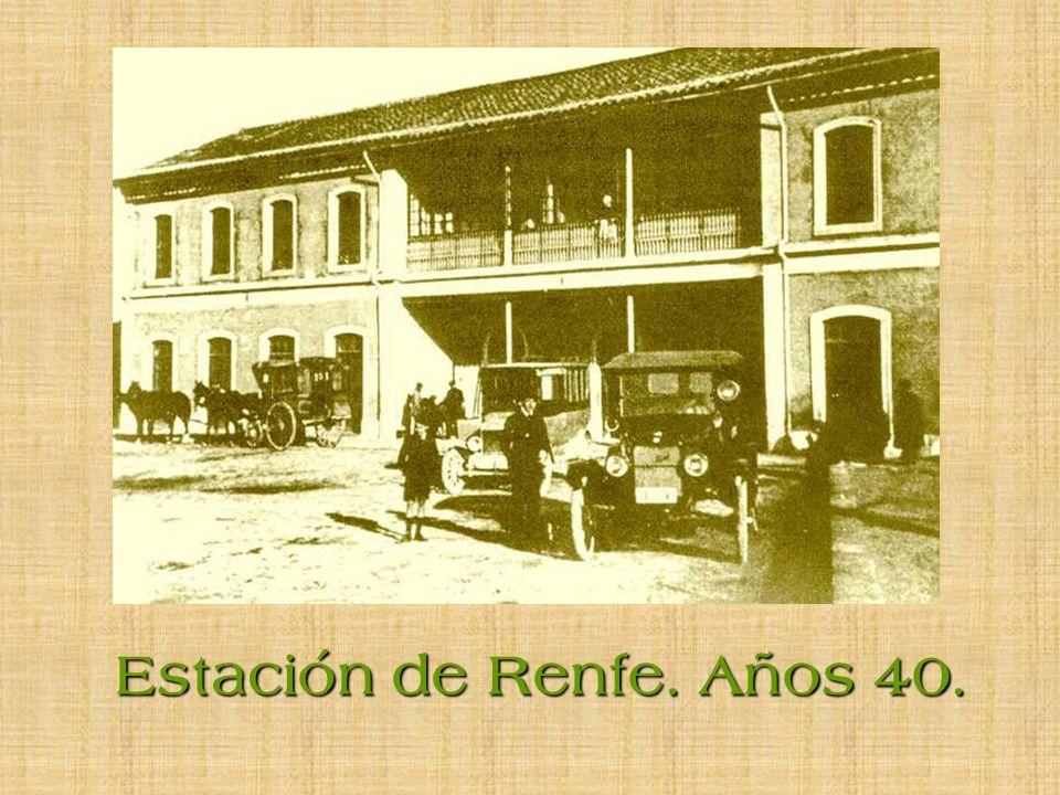 Estación de Renfe. Años 40.
