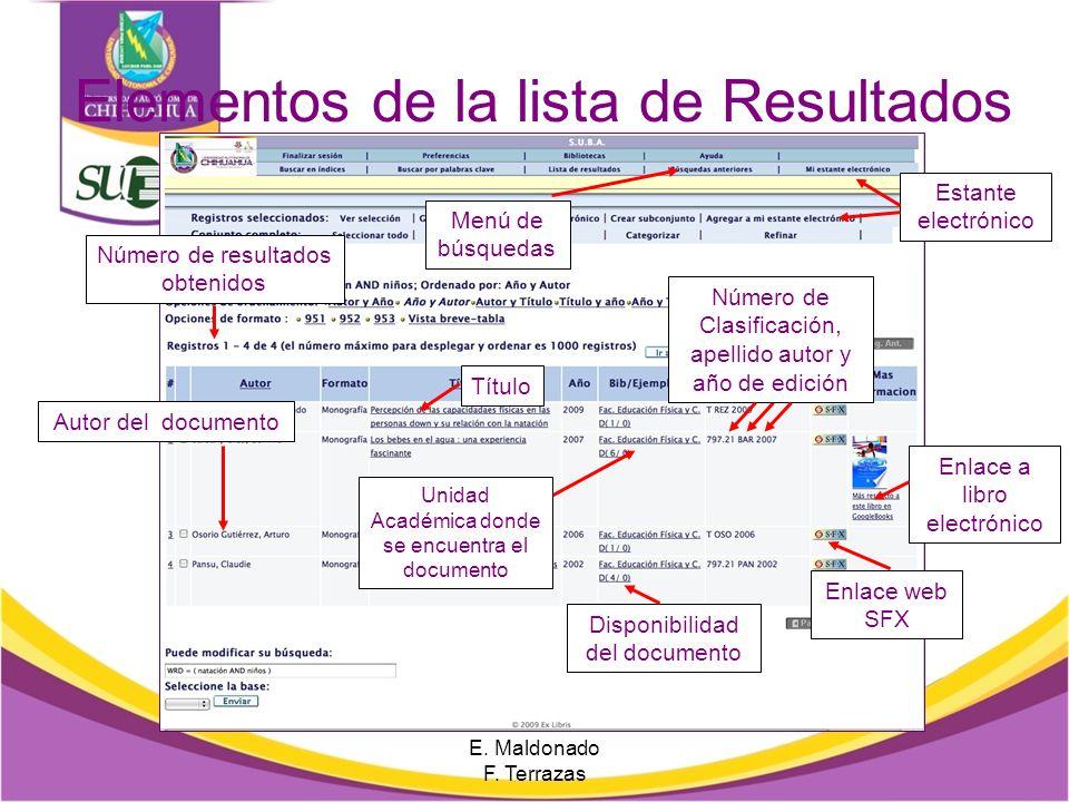 Búsqueda básica Realiza una búsqueda apoyándote en los operadores boleanos E. Maldonado F. Terrazas