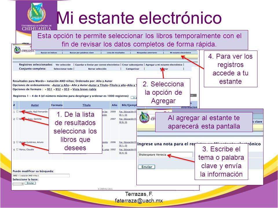 Ficha estándar y bibliográfica Selecciona el tipo de ficha que necesites. Puedes seleccionar varios tipos de fichas con los datos del documento. E. Ma