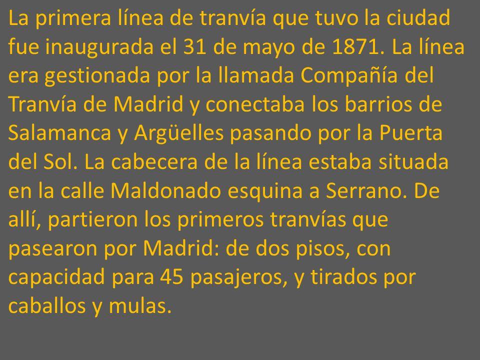 TRANVIAS EN MADRID Presentación realizada por: Carlos Pimentel Musica de: Vanessa Mae Todas las imágenes así como toda la información ha sido recogida
