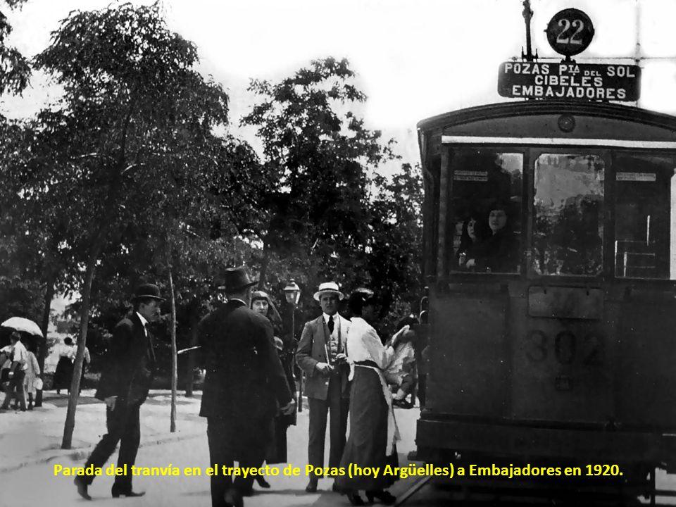 Paseo del Pintor Rosales en 1955