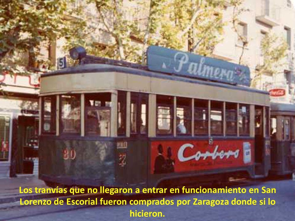 Aunque todavía se ven raíles por las empinadas calles, los tranvías no llegaron a circular en San Lorenzo de Escorial pero a punto estuvieron. De hech
