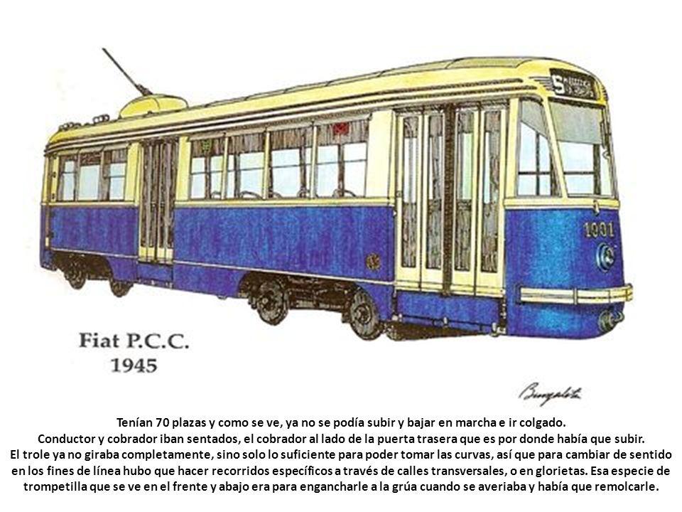 El último tranvía que circuló por Madrid, el 1 de junio de 1972, era un Fiat PCC como el de la imagen, el cual coexistía con el modelo 5001, y un tiem