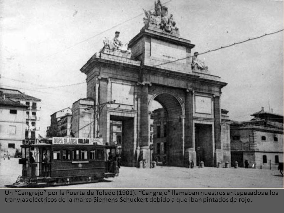 El modelo de tranvía cuya imagen vemos, fue puesto en circulación en el año 1901 y se denominaba