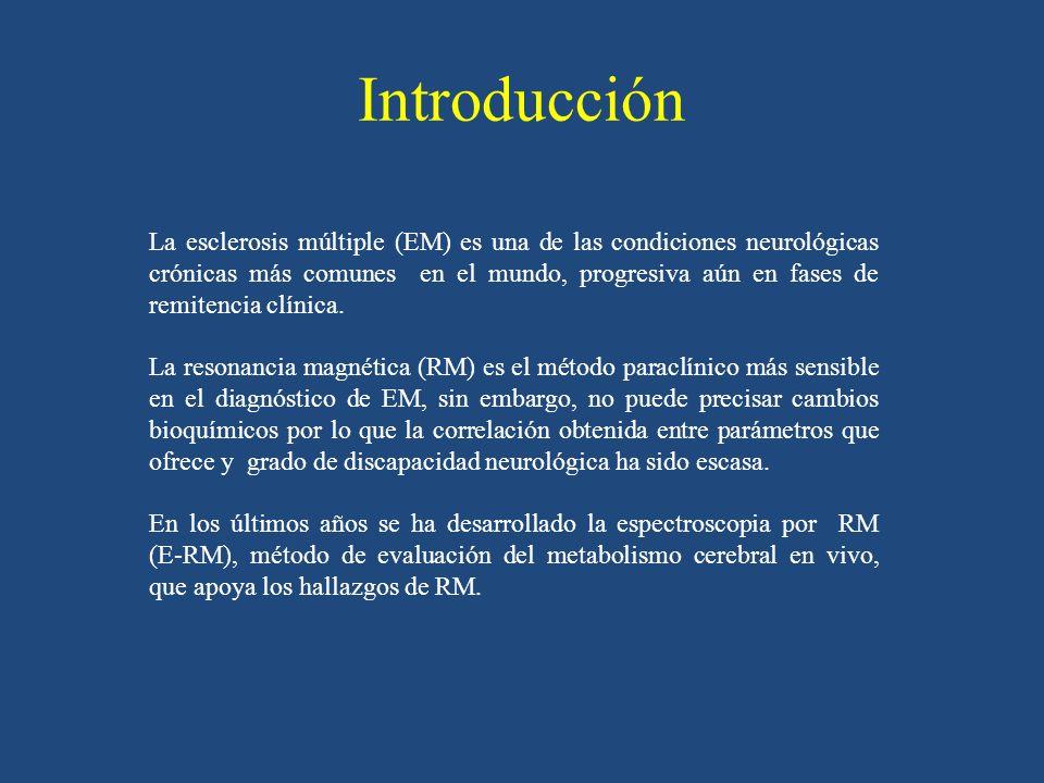 Introducción La esclerosis múltiple (EM) es una de las condiciones neurológicas crónicas más comunes en el mundo, progresiva aún en fases de remitenci