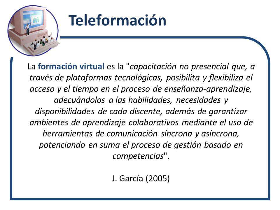 Teleformación La formación virtual es la