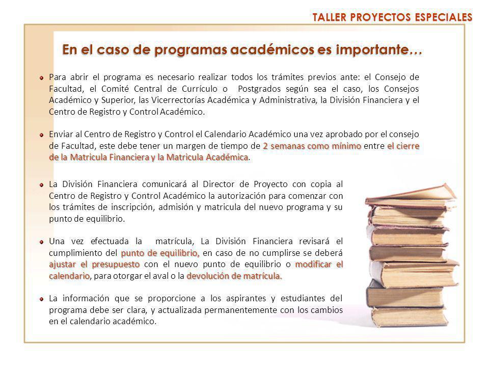 TALLER PROYECTOS ESPECIALES Promoción y Difusión Apalancamiento Financiero.