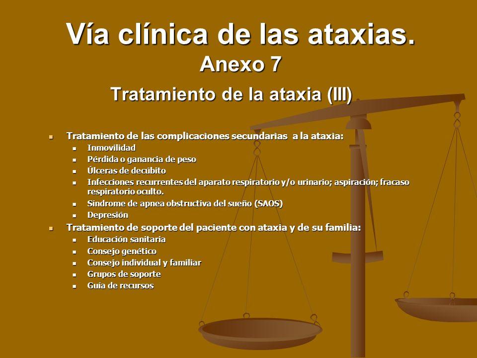 Tratamiento de las complicaciones secundarias a la ataxia: Tratamiento de las complicaciones secundarias a la ataxia: Inmovilidad Inmovilidad Pérdida