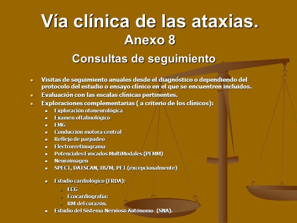Visitas de seguimiento anuales desde el diagnóstico o dependiendo del protocolo del estudio o ensayo clínico en el que se encuentren incluidos. Visita