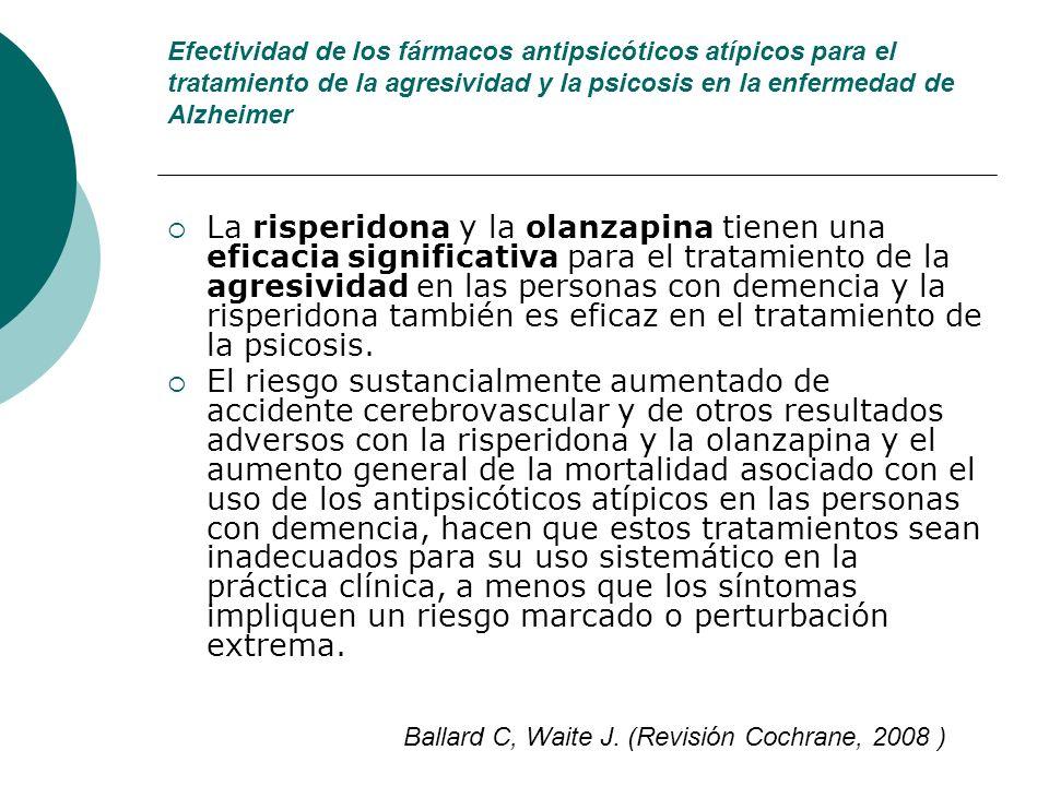 Efectividad de los fármacos antipsicóticos atípicos para el tratamiento de la agresividad y la psicosis en la enfermedad de Alzheimer La risperidona y