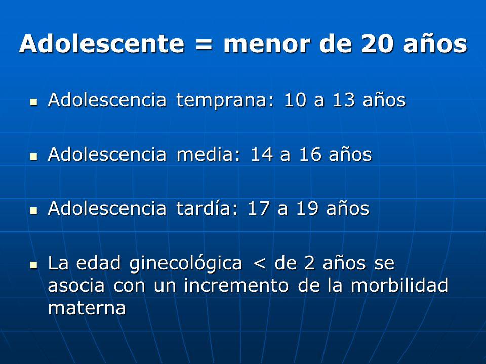 Adolescencia temprana: 10 a 13 años Adolescencia temprana: 10 a 13 años Adolescencia media: 14 a 16 años Adolescencia media: 14 a 16 años Adolescencia