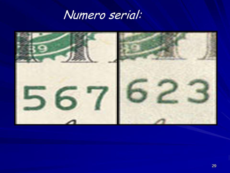 29 Numero serial: