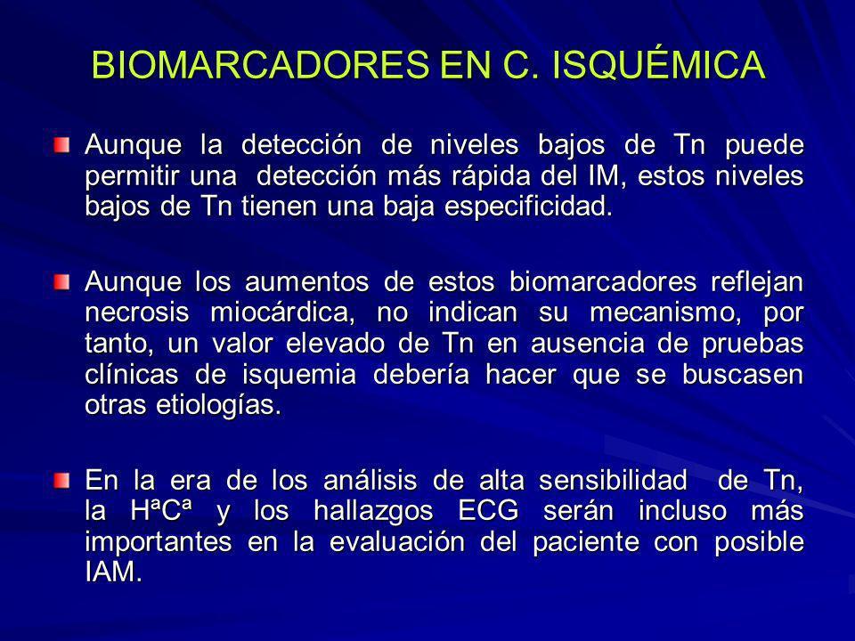 Evaluación diagnóstica que sugiere la presencia de IC Síntomas compatibles ++ ++ Signos compatibles ++ + Disfunción cardiaca en ecocardiografía +++ +++ Respuesta de los síntomas y signos al tratamiento +++ ++ Electrocardiograma Normal ++ Anormal ++ + Disritmia +++ + Pruebas de laboratorio BNP/NT-proBNP elevadas +++ + BNP/NT-proBNP normal/baja + +++ Hiponatremia + + Disfunción renal + + Ligera elevación de la troponina + + Radiografía torácica Congestión pulmonar +++ + Otros Capacidad de ejercicio reducida +++ ++ Pruebas de la función pulmonar anormales + + Hemodinámica anormal en reposo +++ ++ Evaluación Diagnóstico de la insuficiencia cardiaca Apoya, si está presente Descarta, si es normal o ausente