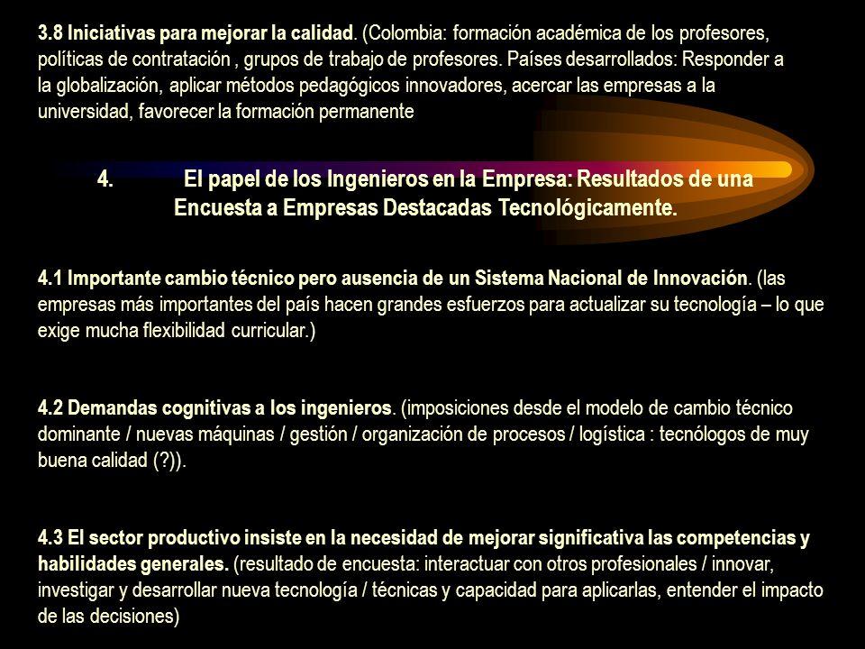 4.1 Importante cambio técnico pero ausencia de un Sistema Nacional de Innovación.