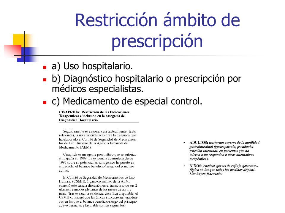 Restricción de las indicaciones TERAPIA HORMONAL SUSTITUTORIA Síntomas climatéricos a la dosis mínima efectiva y durante corto tiempo No de 1ª línea p