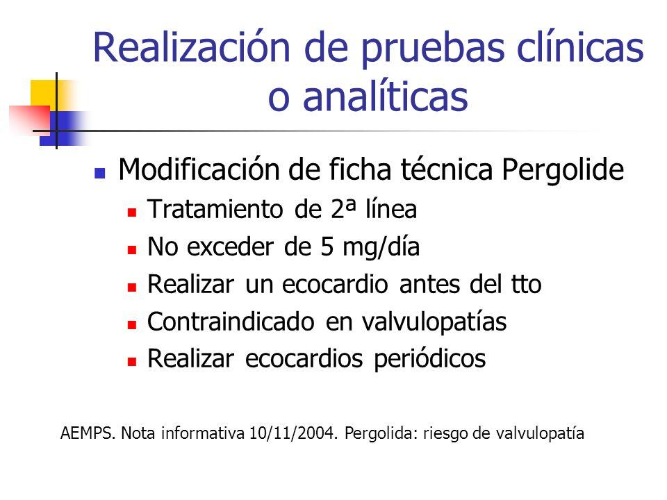 Restricción ámbito de prescripción a) Uso hospitalario. b) Diagnóstico hospitalario o prescripción por médicos especialistas. c) Medicamento de especi