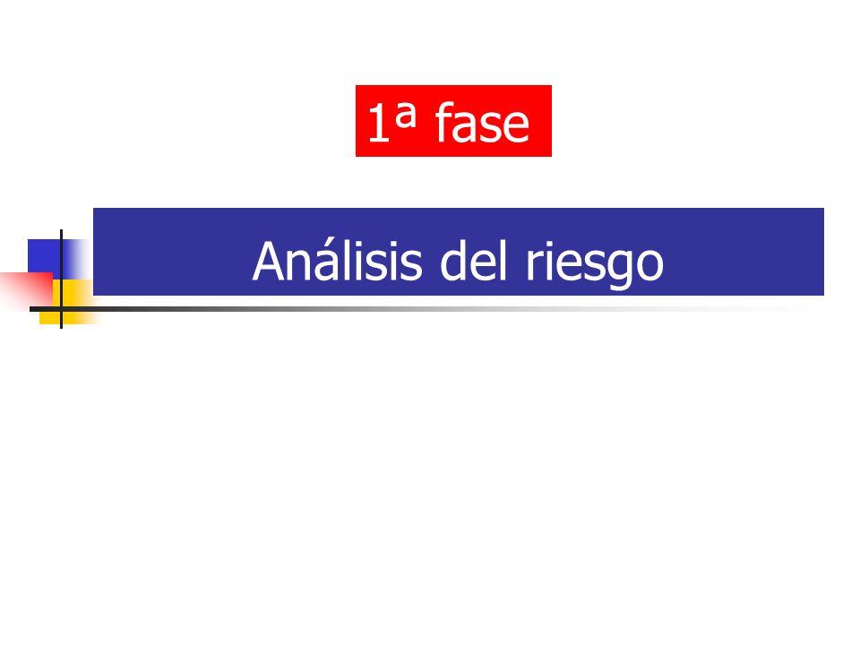 Análisis del riesgo 1ª fase