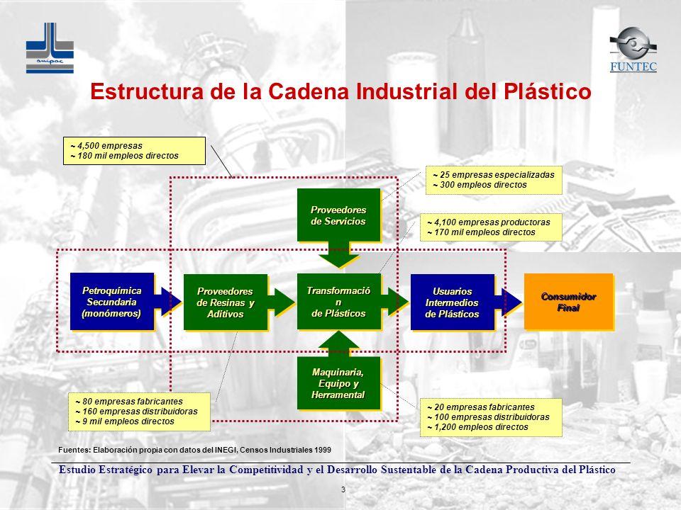Estudio Estratégico para Elevar la Competitividad y el Desarrollo Sustentable de la Cadena Productiva del Plástico 3 Transformació n de Plásticos Tran