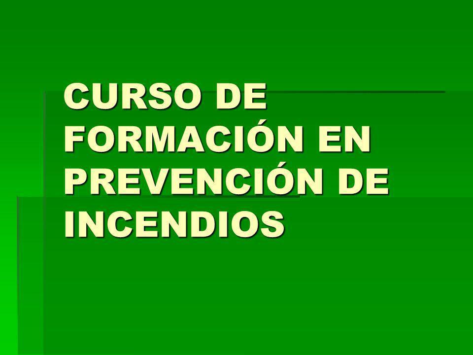 CURSO DE FORMACIÓN EN PREVENCIÓN DE INCENDIOS