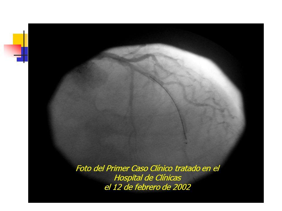 Foto del Primer Caso Clínico tratado en el Hospital de Clínicas el 12 de febrero de 2002