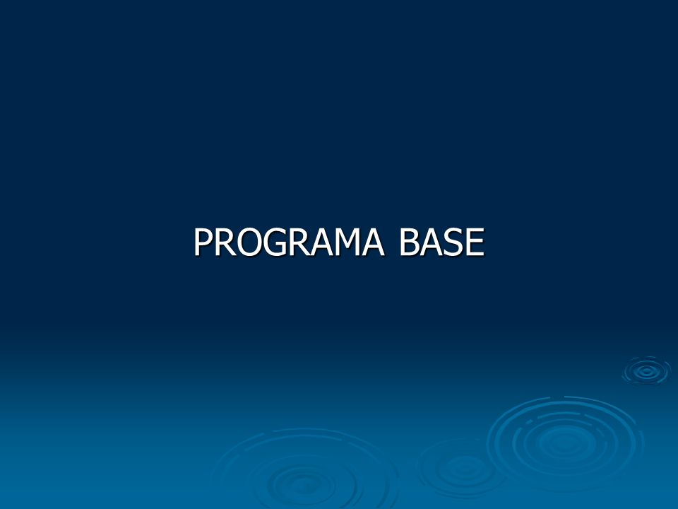 PROGRAMA BASE