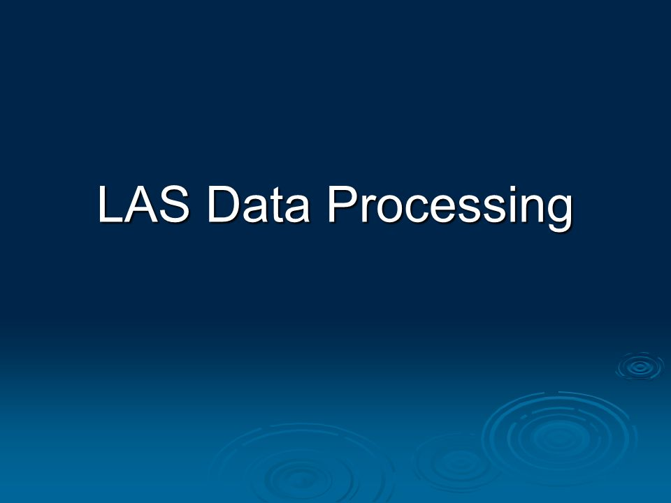 LAS Data Processing