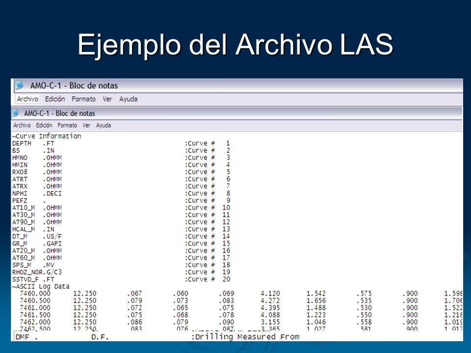 Ejemplo del Archivo LAS