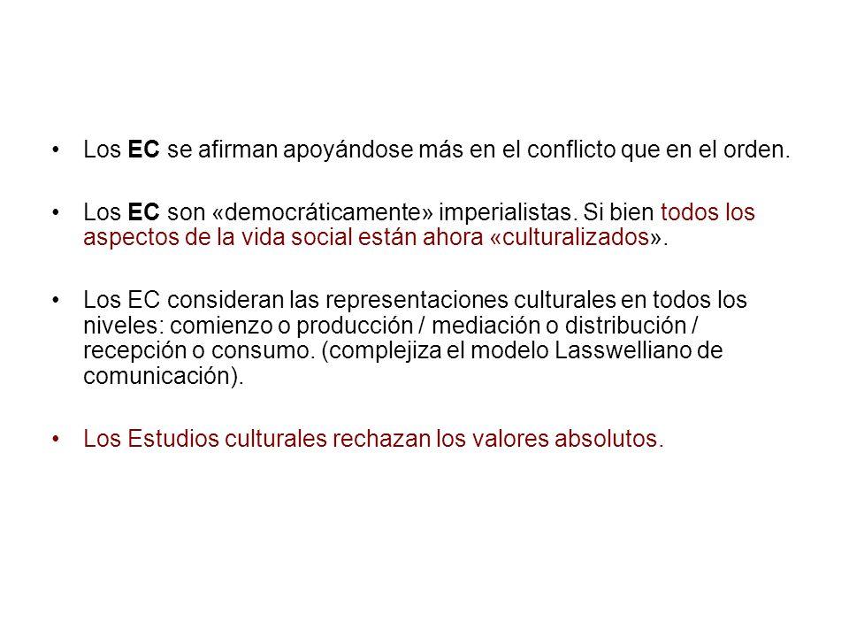 Los EC se afirman apoyándose más en el conflicto que en el orden. Los EC son «democráticamente» imperialistas. Si bien todos los aspectos de la vida s