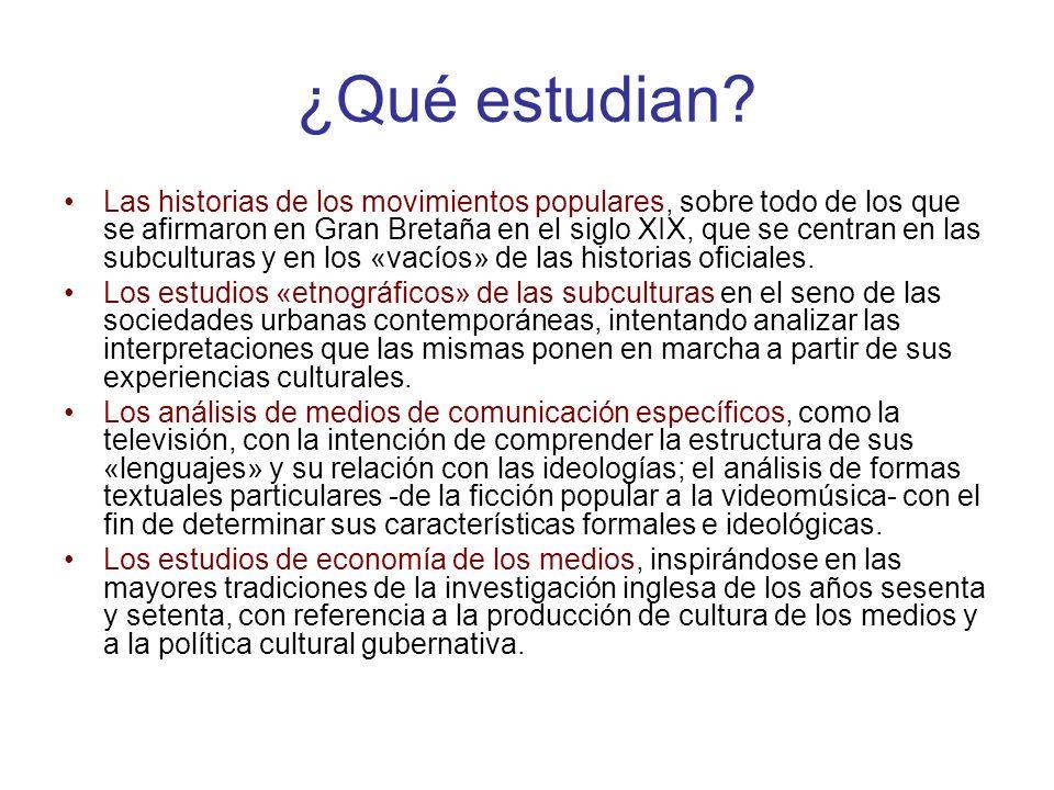 Características de los EC Según Jenks Los EC actúan utilizando un concepto extenso de cultura, entendida como «el modo de vida completo de un pueblo», a pesar de que no concuerden con el punto de vista que define la cultura en cuanto totalidad.