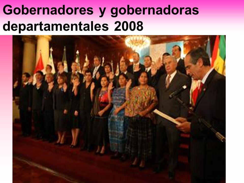 Gobernadores y gobernadoras departamentales 2008