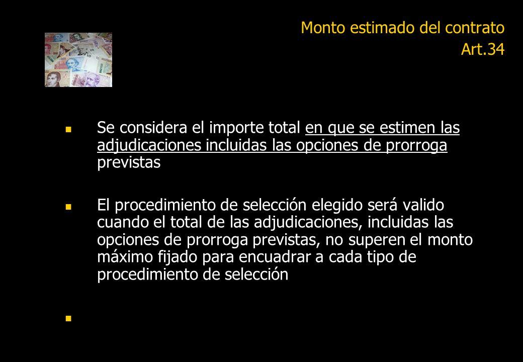 Actualización de montos Art.34 Contratación directa: 1.- Por tramite simplificado hasta SETENTA Y CINCO MODULOS (M 75) 2- Por monto menor (Ap.1) DOSCI