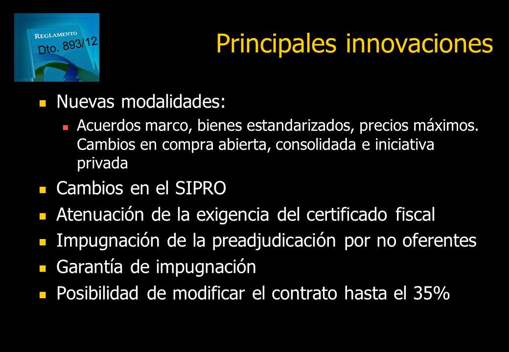 Énfasis en la contratación como política pública Ampliación de facultades del órgano rector del Sistema de Contrataciones Reglamentación consistente y