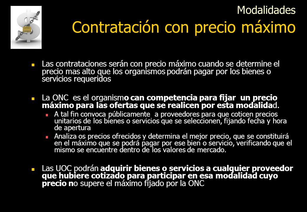 La ONC puede celebrar acuerdos marco con proveedores para el suministro directo de bienes y/o servicios a los organismos Los organismos estarán obliga