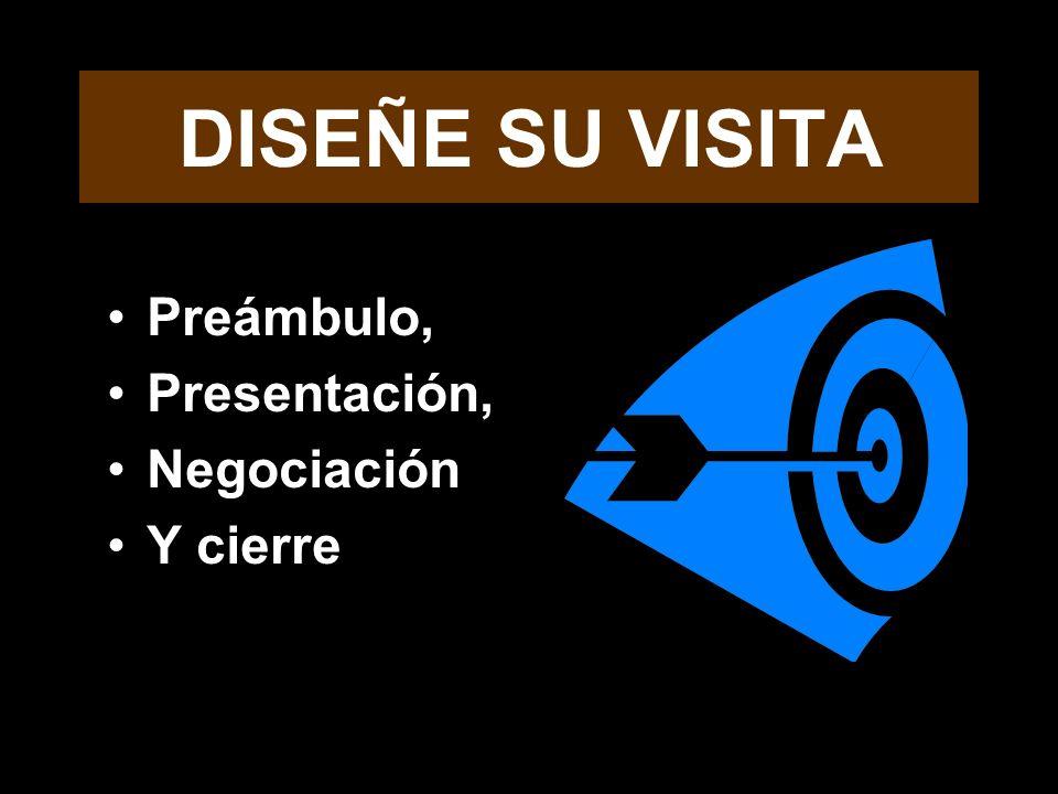 DISEÑE SU VISITA Preámbulo, Presentación, Negociación Y cierre