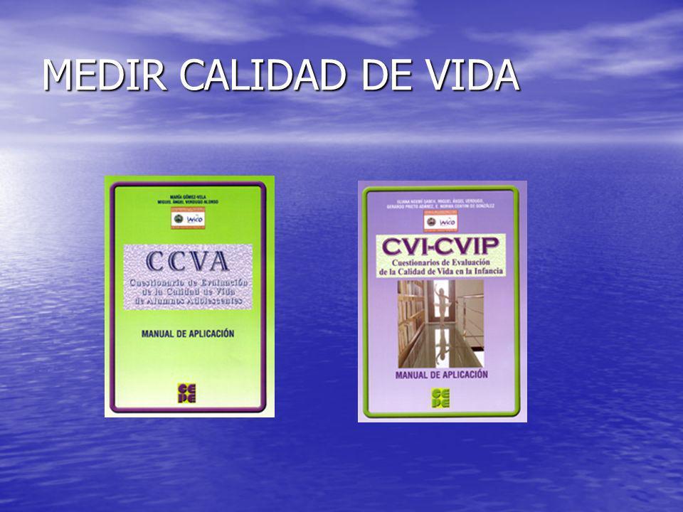 MEDIR CALIDAD DE VIDA