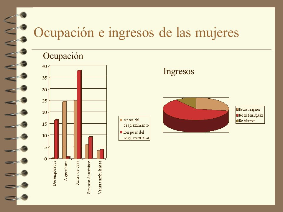Ocupación e ingresos de las mujeres Ingresos Ocupación