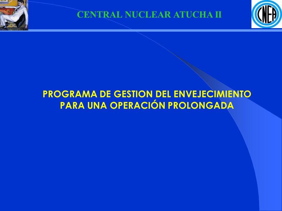 CENTRAL NUCLEAR ATUCHA II PROGRAMA DE GESTION DEL ENVEJECIMIENTO PARA UNA OPERACIÓN PROLONGADA