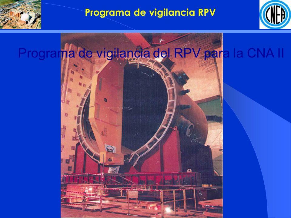 Programa de vigilancia del RPV para la CNA II Programa de vigilancia RPV